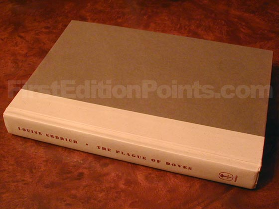Picture of the first edition Harper Collins boards for The Plague of Doves.