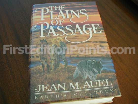Picture of the 1990 first edition dust jacket for The Plains of Passage.