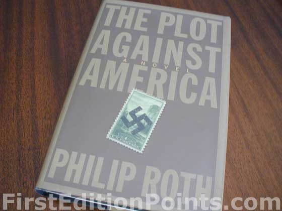 Picture of the 2004 first edition dust jacket for The Plot Against America.