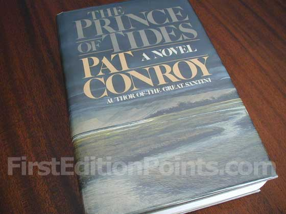 Picture of the 1986 first edition dust jacket for The Prince of Tides.