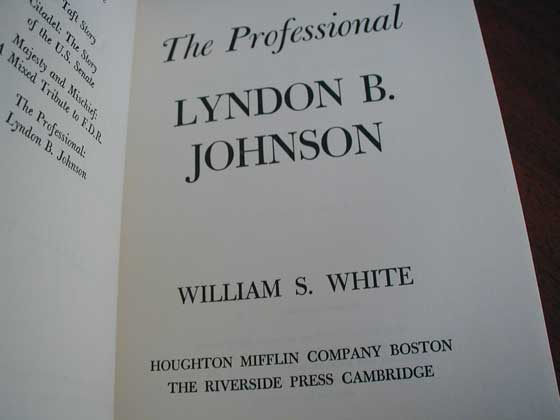 Identification picture of The Professional: Lyndon B. Johnson.