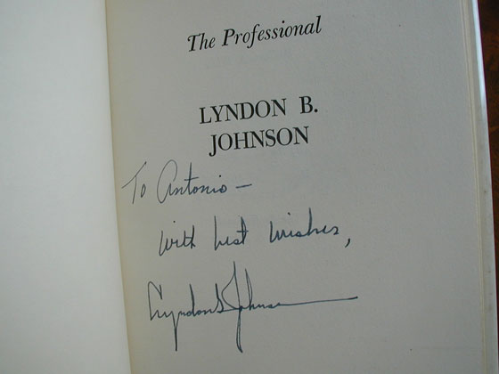 This book was personalized to a 1964 Democratic convention delegate.  We prefer