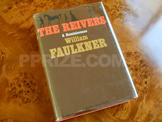 Picture of the 1962 first edition dust jacket for The Reivers.