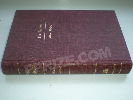 This is a photo of the binding of one of the 500 special copies of the first edition.