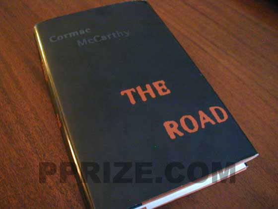 Picture of the 2006 first edition dust jacket for The Road.