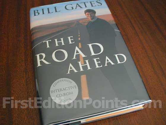 Picture of the 1995 first edition dust jacket for The Road Ahead.