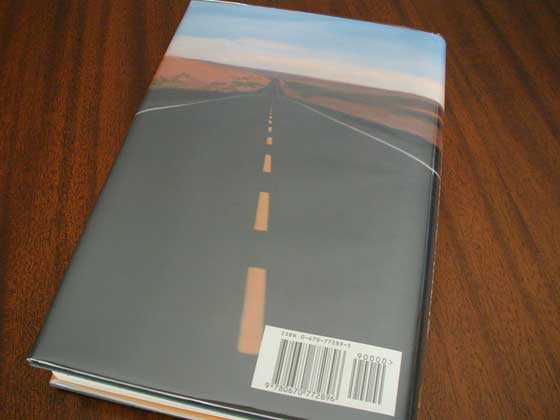 Picture of the back dust jacket for the first edition of The Road Ahead.