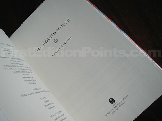 Picture of the first edition title page for The Round House.