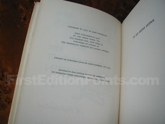 Picture of the first edition copyright page for The Short Reign of Pippin IV.