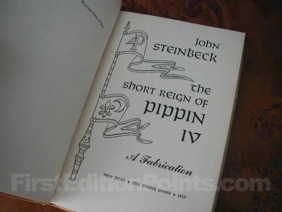 Picture of the first edition title page for The Short Reign of Pippin IV.