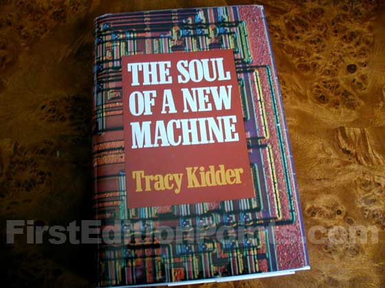Picture of the 1981 first edition dust jacket for The Soul of a New Machine.