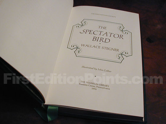 This is a picture of the title page of the limited first edition.