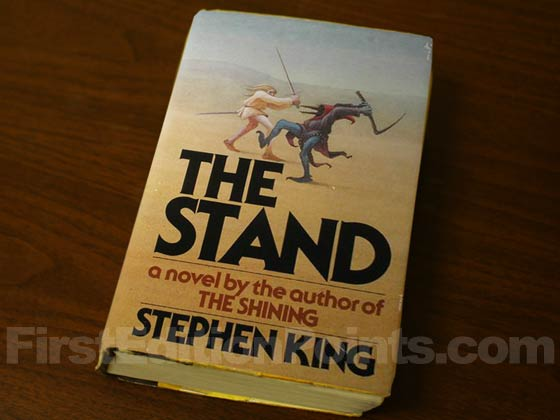 Picture of the 1978 first edition dust jacket for The Stand.