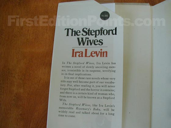 Picture of dust jacket where original $4.95 price is found for The Stepford Wives.