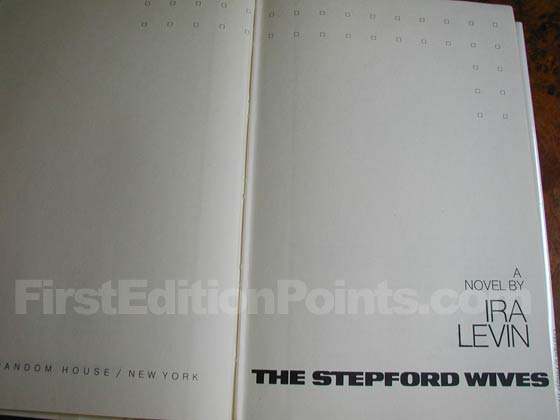 Picture of the first edition title page for The Stepford Wives.