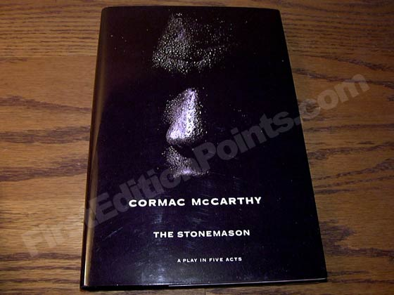Picture of the 1994 first edition dust jacket for The Stonemason.