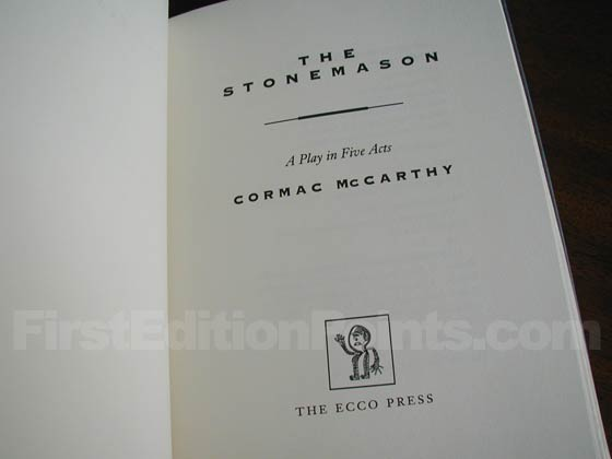 This is the title page from The Stonemason.