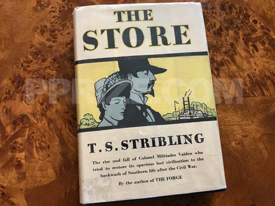 Picture of the 1932 first edition dust jacket for The Store.