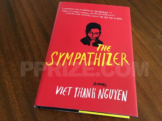 Picture of the 2015 first edition dust jacket for The Sympathizer.