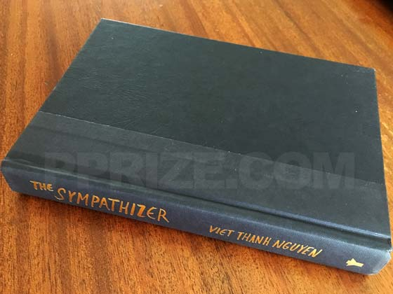 Picture of the first edition Grove Press boards for The Sympathizer.