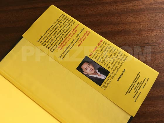 Picture of the back dust jacket flap for The Sympathizer.