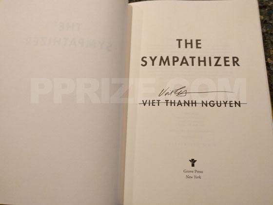 This title page of The Sympathizer has been signed by Viet Thanh Nguyen.