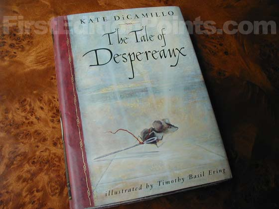 Picture of the 2003 first edition dust jacket for The Tale Of Despereaux.