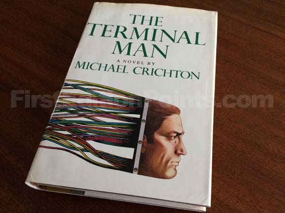 Picture of the 1972 first edition dust jacket for The Terminal Man.