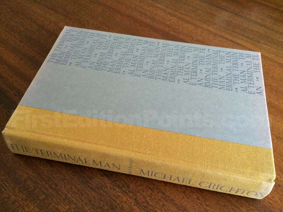 Picture of the first edition Alfred A. Knopf boards for The Terminal Man.