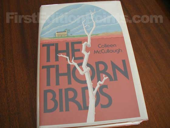 Picture of the 1977 first edition dust jacket for The Thorn Birds.