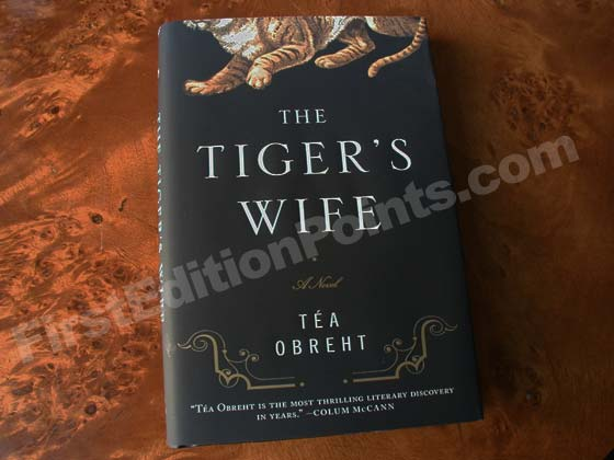 Picture of the 2011 first edition dust jacket for The Tiger's Wife.