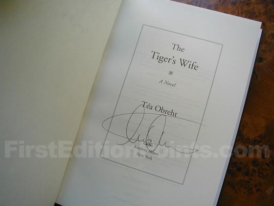 Picture of the first edition title page for The Tiger's Wife.