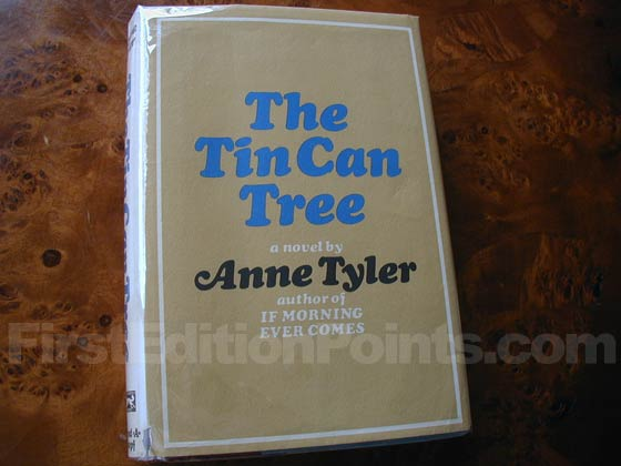 Picture of the 1965 first edition dust jacket for The Tin Can Tree.