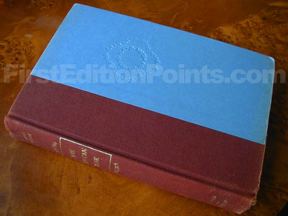 Picture of the first edition Alfred A. Knopf boards for The Tin Can Tree.