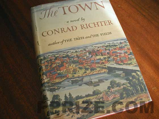 Picture of the 1950 first edition dust jacket for The Town.