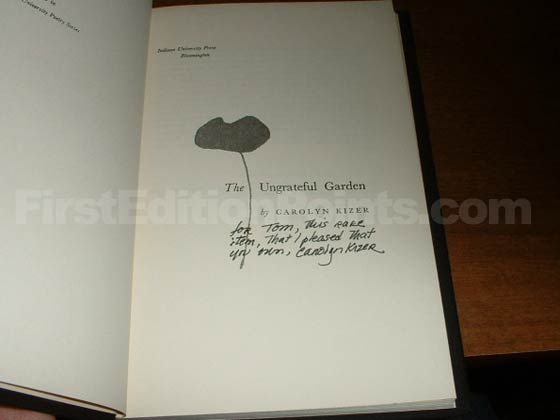 Picture of the first edition title page for The Ungrateful Garden.
