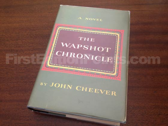 Picture of the 1957 first edition dust jacket for The Wapshot Chronicle.