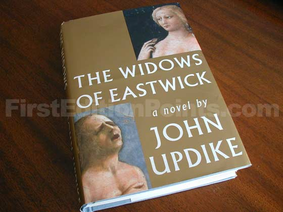 Picture of the 2008 first edition dust jacket for The Widows of Eastwick.