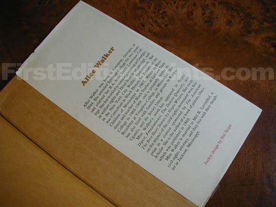 Picture of the back dust jacket flap for the first edition of The Third Life Of Grange