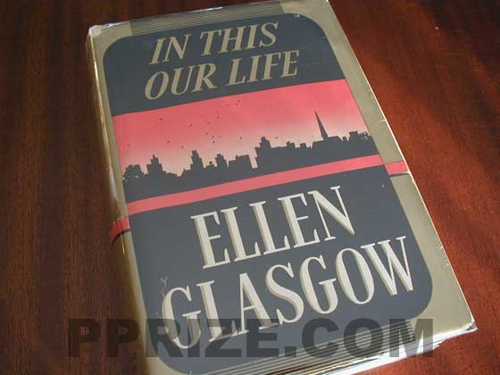 Picture of the 1941 first edition dust jacket for In This Our Life.