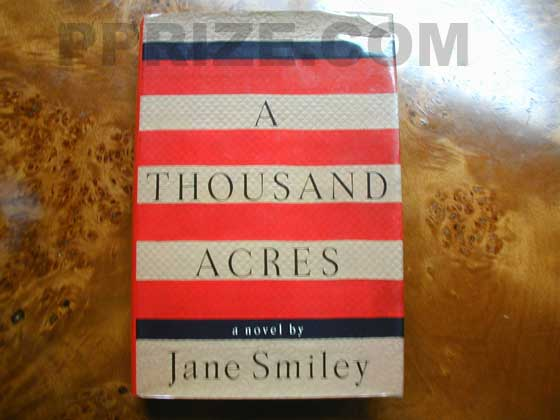 Picture of the 1991 first edition dust jacket for A Thousand Acres.