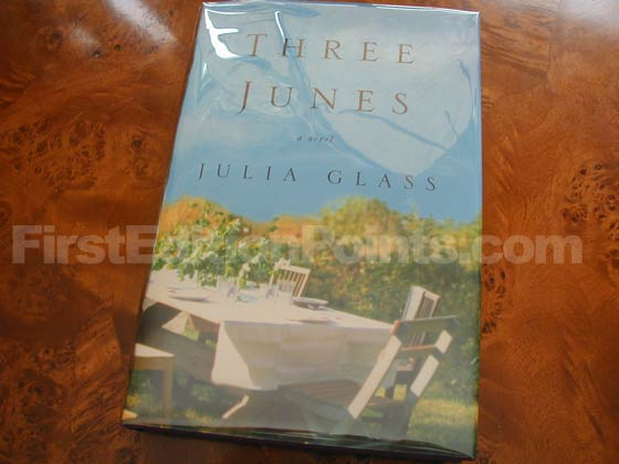 Picture of the 2002 first edition dust jacket for Three Junes.