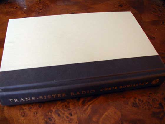 Picture of the first edition Harmony Books boards for The Trans-Sister Radio.