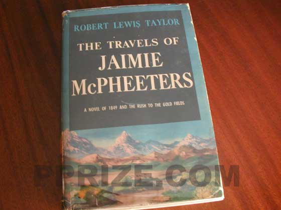 Picture of the 1958 first edition dust jacket for The Travels of Jaimie Mcpheeters.