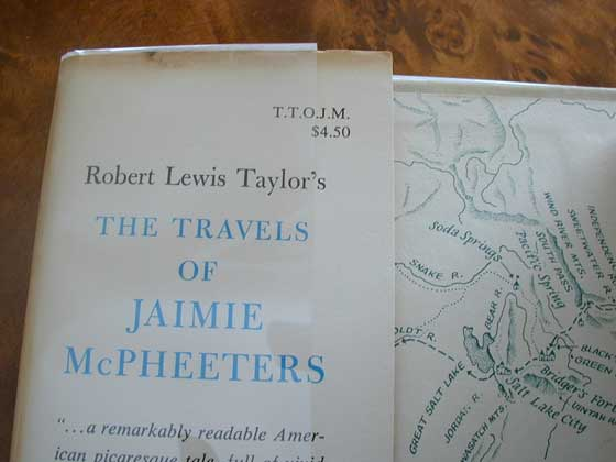 Picture of dust jacket where original $4.50 price is found for The Travels of Jaimie
