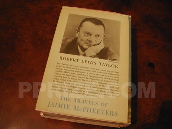 Picture of the back dust jacket for the first edition of The Travels of Jaimie