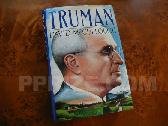 Picture of the 1992 first edition dust jacket for Truman.
