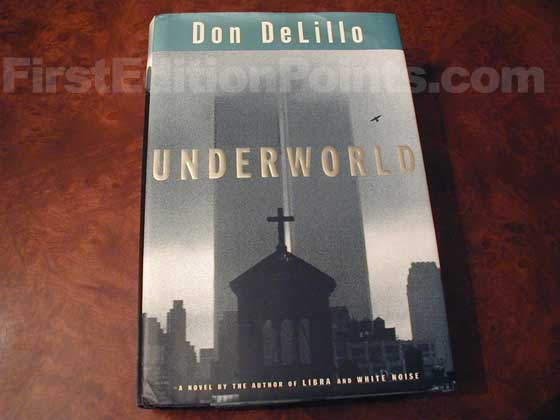 Picture of the 1997 first edition dust jacket for Underworld.