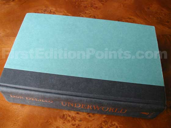 Picture of the first edition Scribners boards for Underworld.