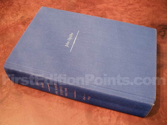 Picture of the first edition Alfred A. Knopf boards for The Early Stories: 1953-1975.